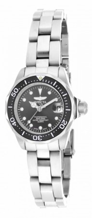 Women's Pro Diver Black Dial Stainless Steel Stainless Steel Band Quartz Watch