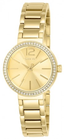 Women's Gabrielle Union Gold Dial Gold Tone Stainless Steel Band Quartz Watch