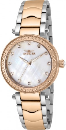 Women's Wildflower Mother of Pearl Dial Rose Gold Tone, Stainless Steel Stainless Steel Band Quartz Watch