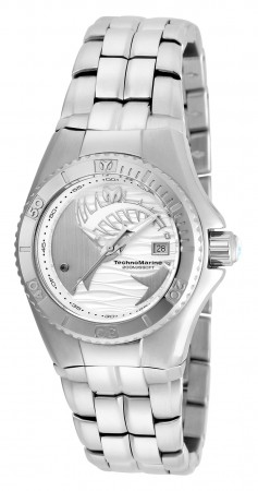 Women's Technomarine Silver Dial Silver Stainless Steel Band Quartz Watch