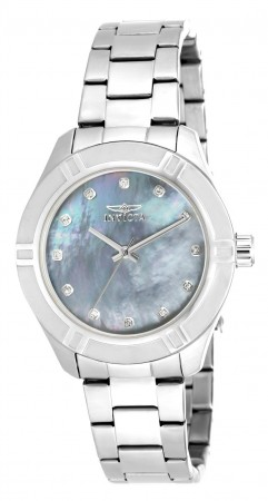 Women's Pro Diver Mother Of Pearl Dial Stainless Steel Stainless Steel Band Quartz Watch