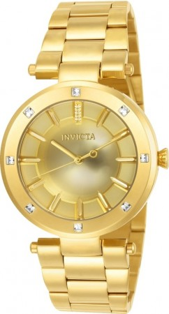 Women's Angel Gold Dial Gold Stainless Steel Band Quartz Watch
