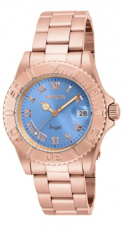 Women's Angel Brown Dial Rose Gold Stainless Steel Band Quartz Watch