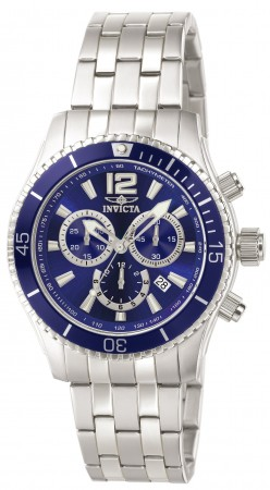 Men's Specialty Blue Dial Stainless Steel Band Quartz Watch