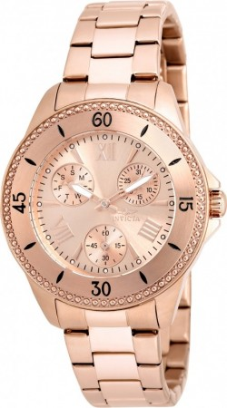 Women's Angel Rose Gold Dial Rose Gold Stainless Steel Band Quartz Watch