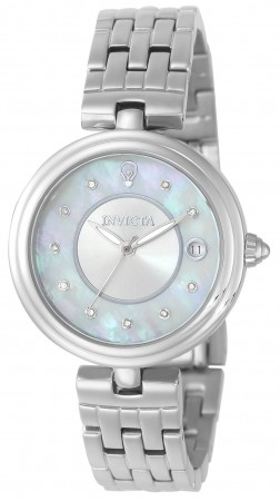 Women's Gabrielle Union White Dial Stainless Steel Stainless Steel Band Quartz Watch
