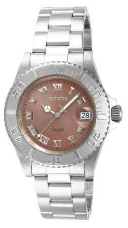Women's Angel Copper Dial Stainless Steel Stainless Steel Band Quartz Watch