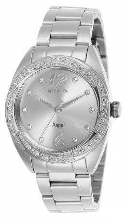 Women's Angel Silver Dial Stainless Steel Stainless Steel Band Quartz Watch