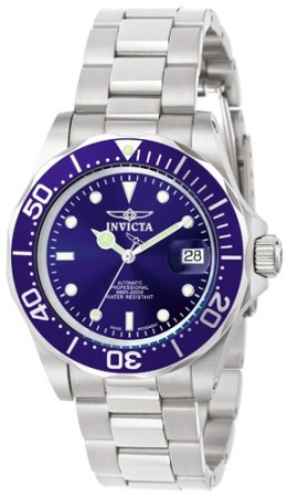 Men's Pro Diver Blue Dial Stainless Steel Stainless Steel Band Thailand Movement Watch