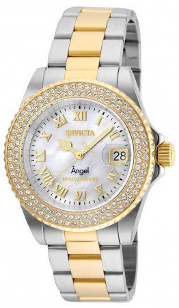 Women's Angel Silver Dial Gold/Stainless Steel Stainless Steel Band Quartz Watch