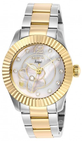 Women's Angel White Dial Gold/Stainless Steel Stainless Steel Band Quartz Watch