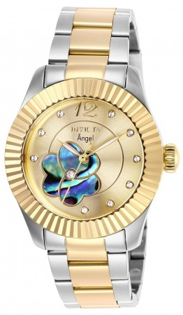 Women's Angel Gold Dial Gold/Stainless Steel Stainless Steel Band Quartz Watch