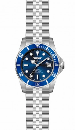 Men's Pro Diver Blue Dial Stainless Steel Band Automatic Watch