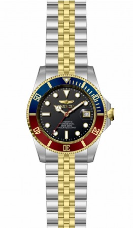 Men's Pro Diver Black Dial Gold, Stainless Steel Band Automatic Watch