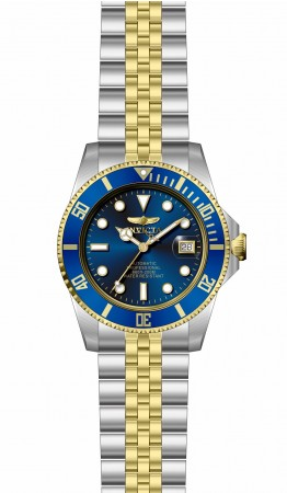 Men's Pro Diver Blue Dial Gold, Stainless Steel Band Automatic Watch