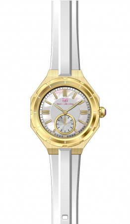 Women's Technomarine Mother of Pearl Dial White Silicon Band Quartz Watch