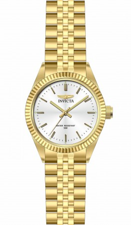 Men's Specialty Silver Dial Gold Band Quartz Watch