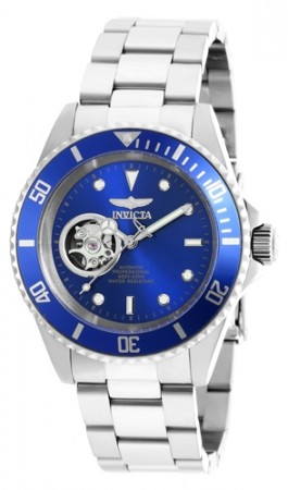 Men's Pro Diver Blue Dial Stainless Steel Stainless Steel Band Automatic Watch