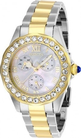 Women's Angel Mother Of Pearl Dial Silver Stainless Steel Band Quartz Watch