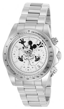 Men's Disney Silver Dial Stainless Steel Stainless Steel Band Quartz Watch