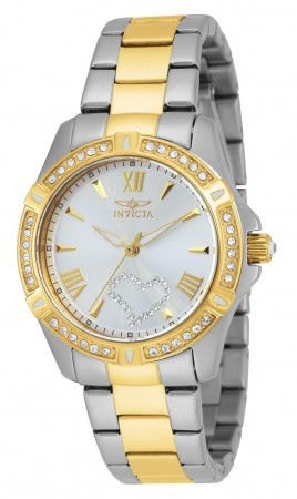 Women's Angel Silver Dial Gold Stainless Steel Band Quartz Watch