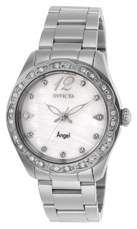 Women's Angel White Dial Stainless Steel Stainless Steel Band Quartz Watch
