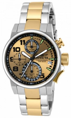 Women's I-Force Gold Dial Gold/Stainless Steel Stainless Steel Band Quartz Watch