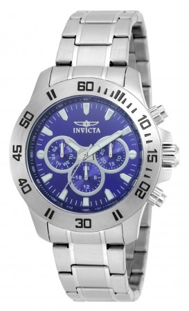 Men's Specialty Blue Dial Stainless Steel Stainless Steel Band Quartz Watch