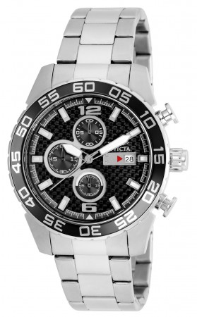 Men's Specialty Black Dial Stainless Steel Stainless Steel Band Quartz Watch