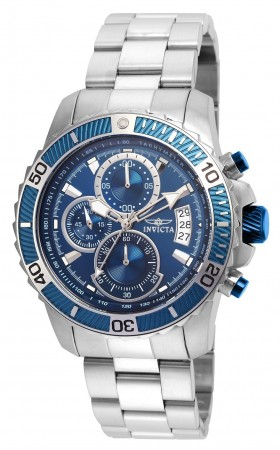 Men's Pro Diver Scuba Blue Dial Stainless Steel Stainless Steel Band Quartz Watch