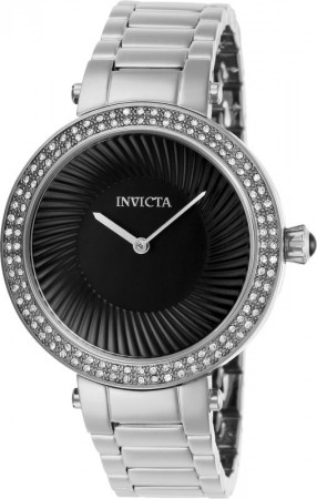 Women's Specialty Black Dial Stainless Steel Stainless Steel Band Quartz Watch