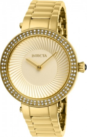 Women's Specialty Gold Dial Gold Stainless Steel Band Quartz Watch