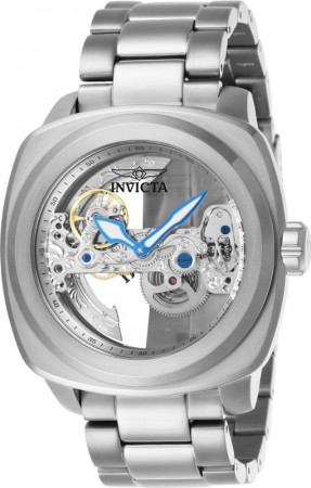 Men's Aviator Silver Dial Stainless Steel Stainless Steel Band Automatic Watch