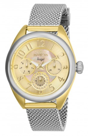 Women's Angel Gold Dial Stainless Steel Stainless Steel Band Quartz Watch