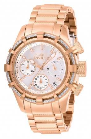 Women's Bolt Silver Dial Rose Gold Stainless Steel Band Quartz Watch