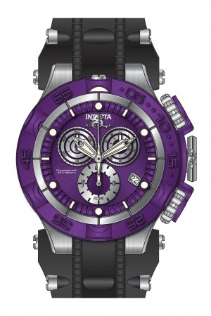 Men's Subaqua Noma V Purple Dial Black/Stainless Steel Polyurethane/Stainless Steel Band Quartz Watch