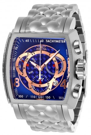 Men's S1 Rally Blue Dial Silver Stainless Steel Band Quartz Watch