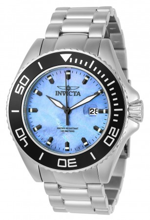 Men's Pro Diver Platinum Dial Stainless Steel Stainless Steel Band Quartz Watch