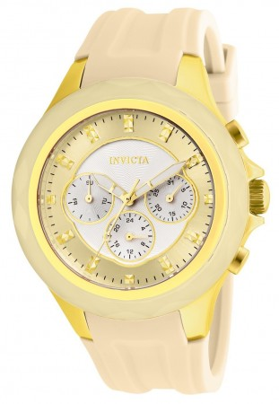 Women's Angel Silver Dial Gold Silicon Band Quartz Watch