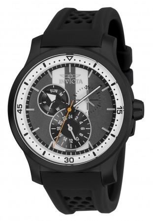 Men's S1 Rally Charcoal Dial Black Silicon Band Quartz Watch