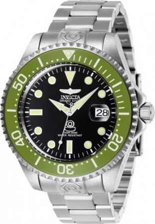 Men's Pro Diver Black Dial Stainless Steel Stainless Steel Band Automatic Watch