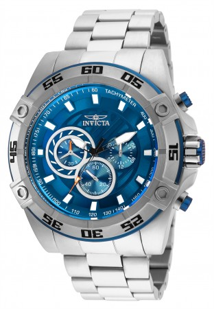 Men's Speedway Blue Dial Stainless Steel Stainless Steel Band Quartz Watch