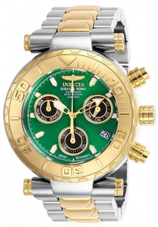 Men's Subaqua Green Dial Gold/Stainless Steel Stainless Steel Band Quartz Watch