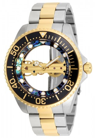 Men's Pro Diver Black Dial Gold/Stainless Steel Stainless Steel Band Mechanical Watch