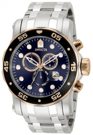 Invicta Men's Pro Diver 80038 Quartz Chronograph Blue Dial Watch
