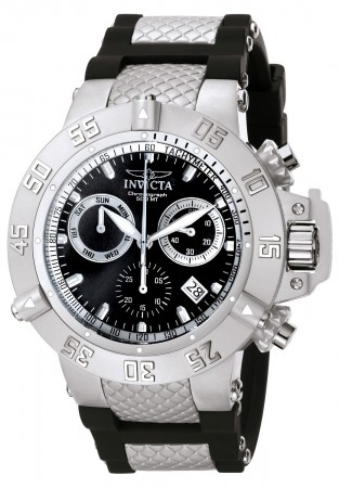 Men's Subaqua Noma Iii Black Dial Black/Stainless Steel Inserts Polyurethane Band Quartz Watch