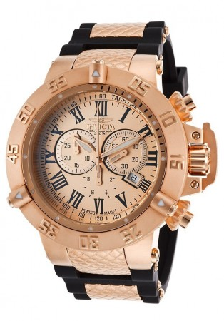 Men's Subaqua Noma Iii Rose Gold Dial Rose Gold/Black Polyurethane/Stainless Steel Band Quartz Watch