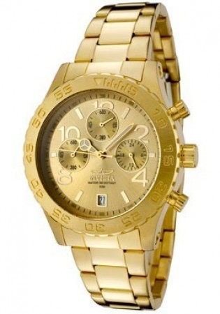 Women's Specialty Ocean Gold Dial Gold Stainless Steel Band Quartz Watch