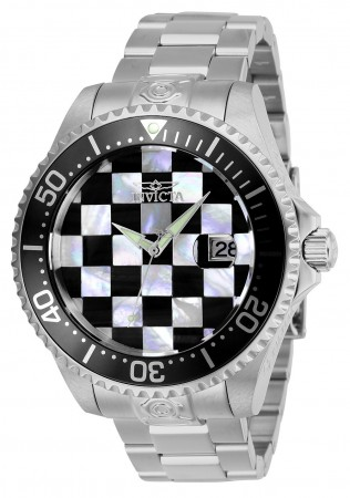 Men's Pro Diver White Dial Silver Stainless Steel Band Automatic Watch