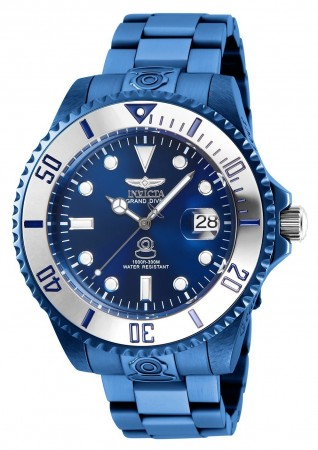Men's Pro Diver Blue Dial Blue Stainless Steel Band Automatic Watch